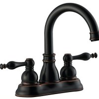 Derengge Two Handles Oil Rubbed Bronze Bathroom Sink Faucet with Pop up Drain