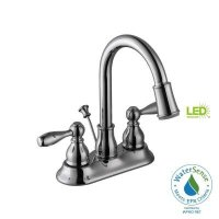 Glacier Bay 67513W-6401 Mandouri Led Bathroom/Bath Sink Faucet, Chrome