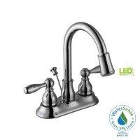 Glacier Bay 67513W-6401 Mandouri Led Bathroom/Bath Sink Faucet, Chrome