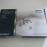 AquaSource Glyndon Polished Chrome 2-Handle Adjustable Deck Mount Tub Faucet Item# 65461 Model# 461-5301 UPC#6953123900884