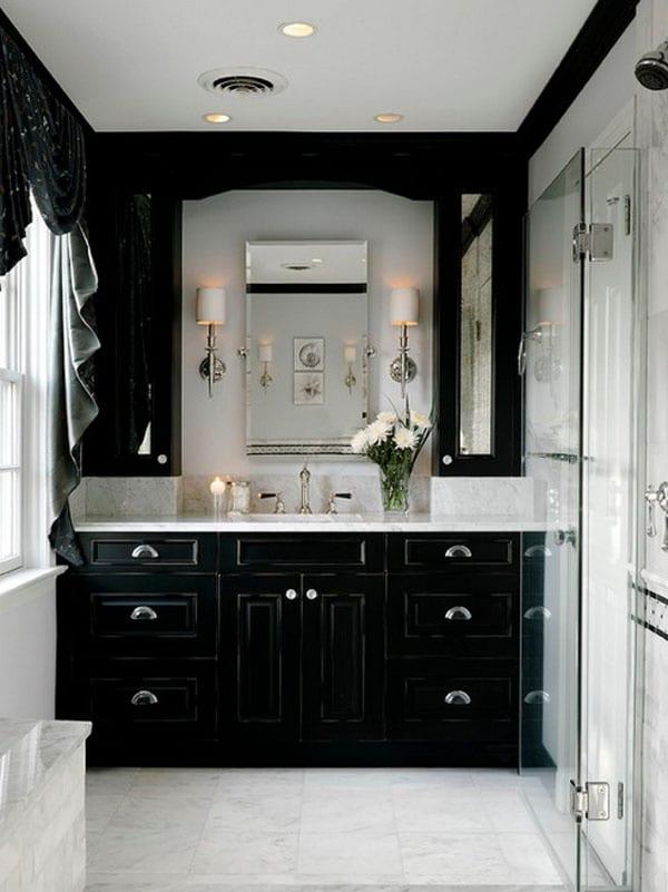 Decorating Ideas for a Monochrome Bathroom on Monochromatic Bathroom Ideas  id=52223