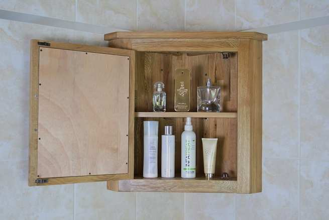 Oak Bathroom Cabinet with Storage