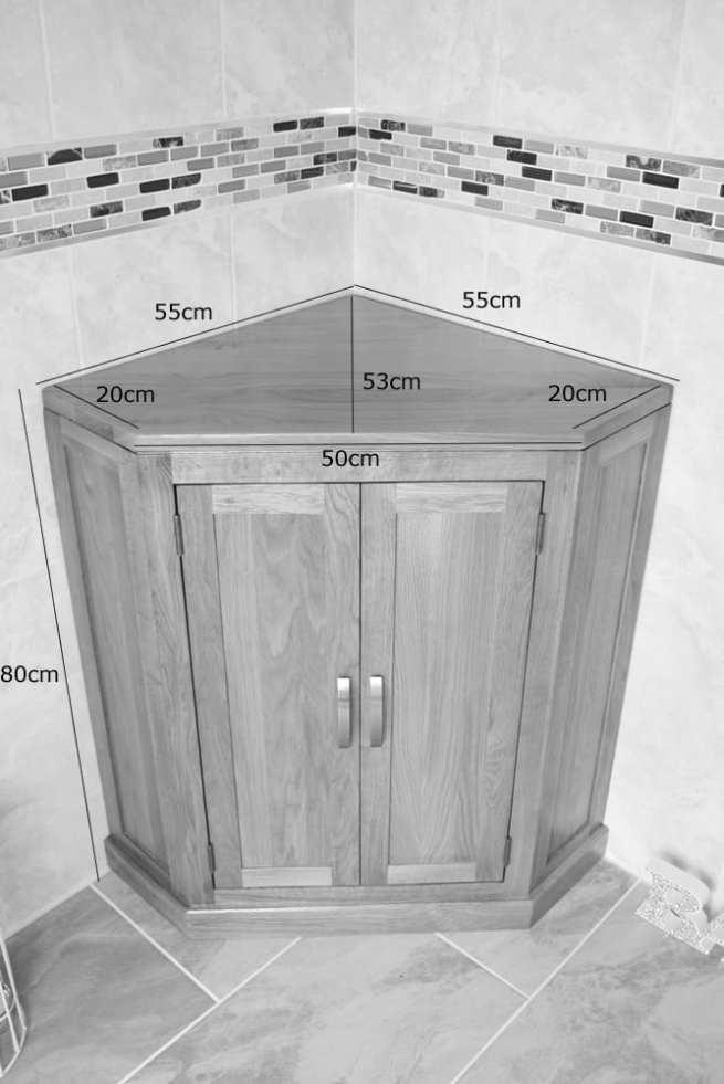 Corner Vanity Unit - Measurements