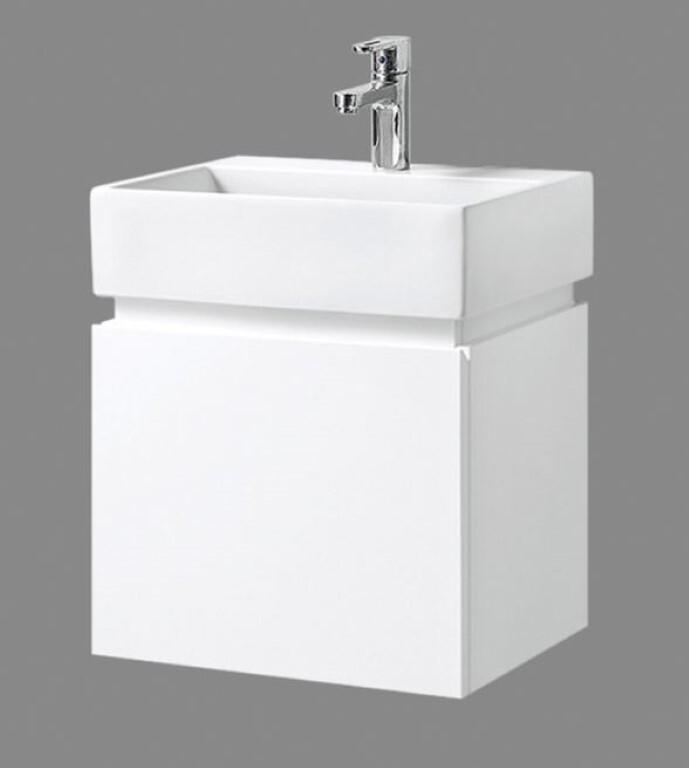 Bathroom Wall Hung Vanity Narrow Slim Amp Ceramic Basin 480W