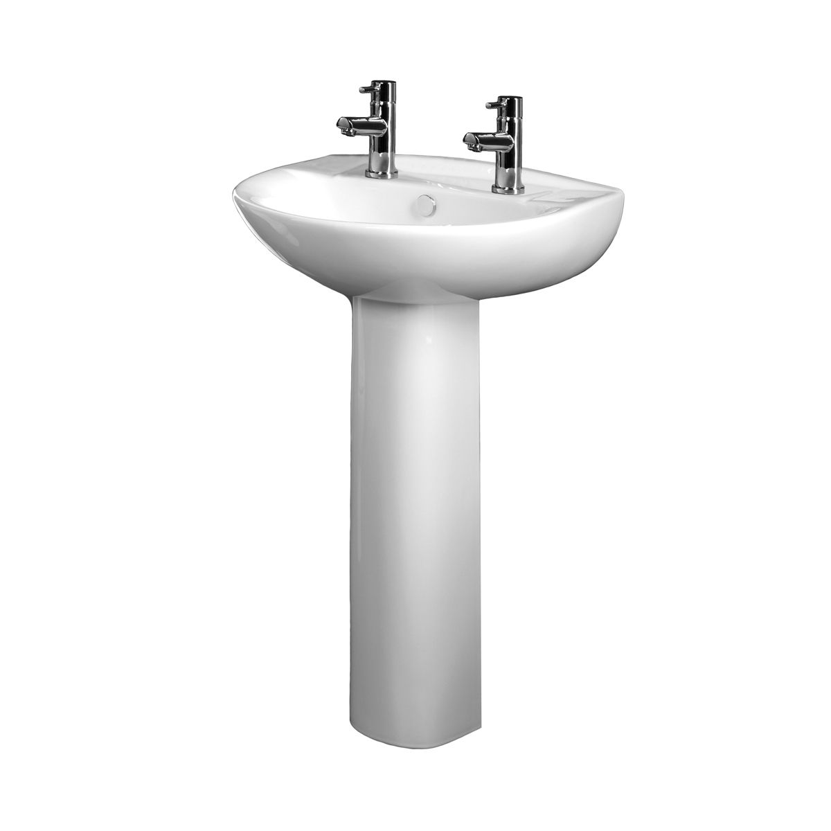 tavistock micra 2 tap hole basin pedestal 565mm