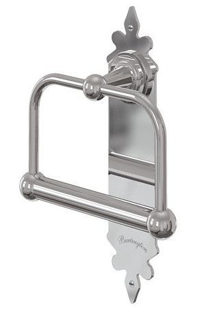 Burlington Chrome Spire Toilet Roll Holder Bathroom Supplies Online