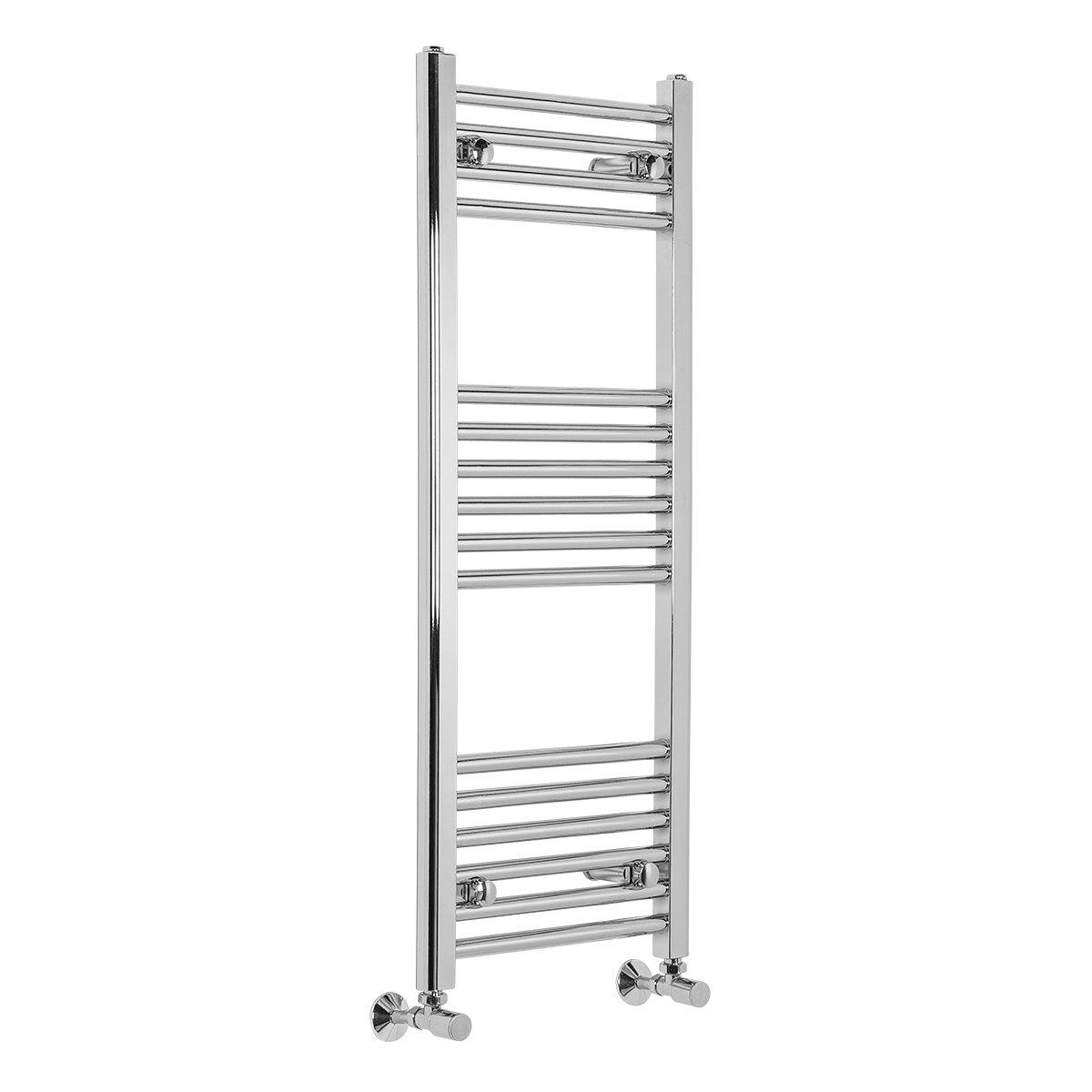Bathroom Heated Towel Rail Radiator Chrome Straight Ladder