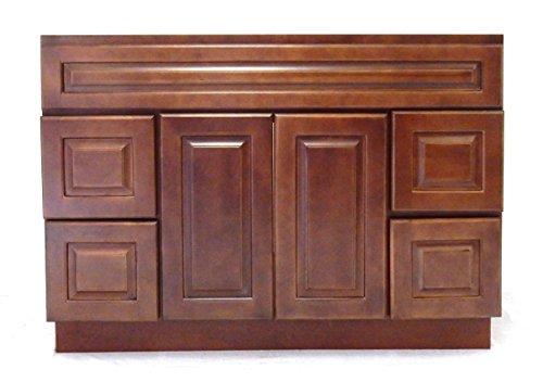 Kichler Barrington 3 Light 22 In Cylinder Vanity Light At: NGY Chestnut Chocolate Vanity Cabinet Maple Wood, 48″ L