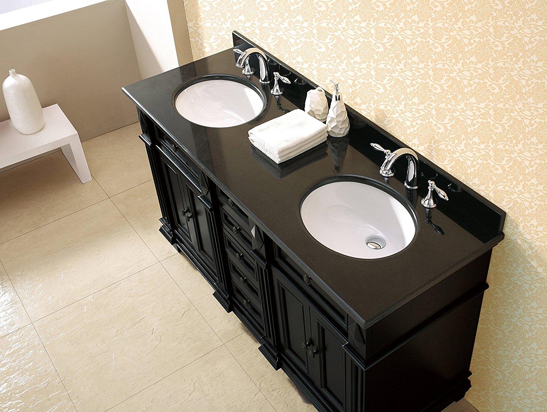 milan bathroom vanity set with black granite vanity top white sink