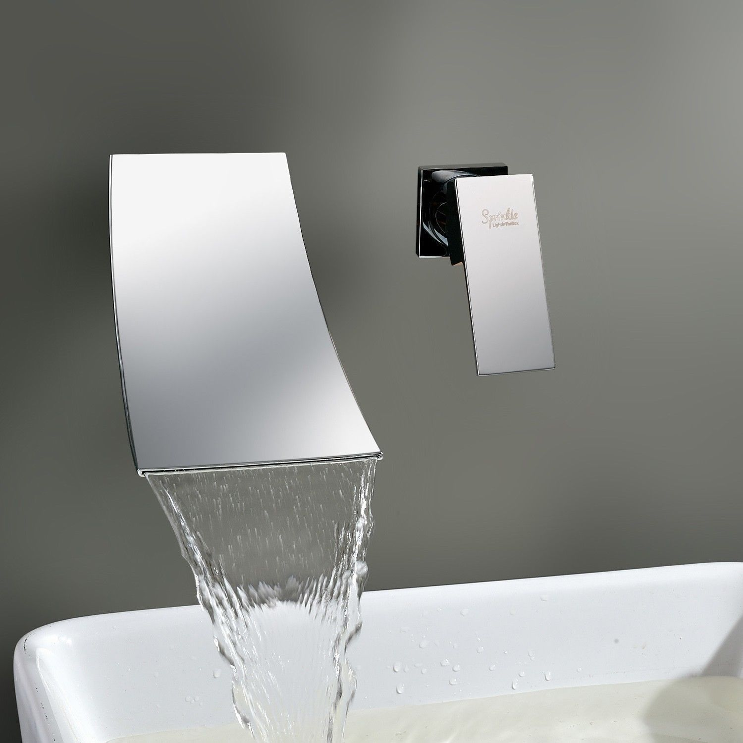 contemporary wall mount waterfall bathtub shower faucet chrome shower mixer tap