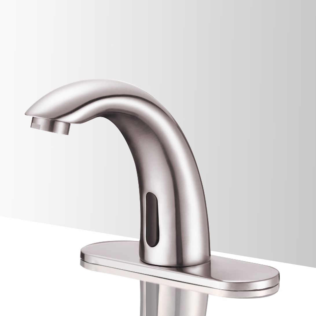 lano touchless bathroom commercial automatic faucet brushed nickel finish