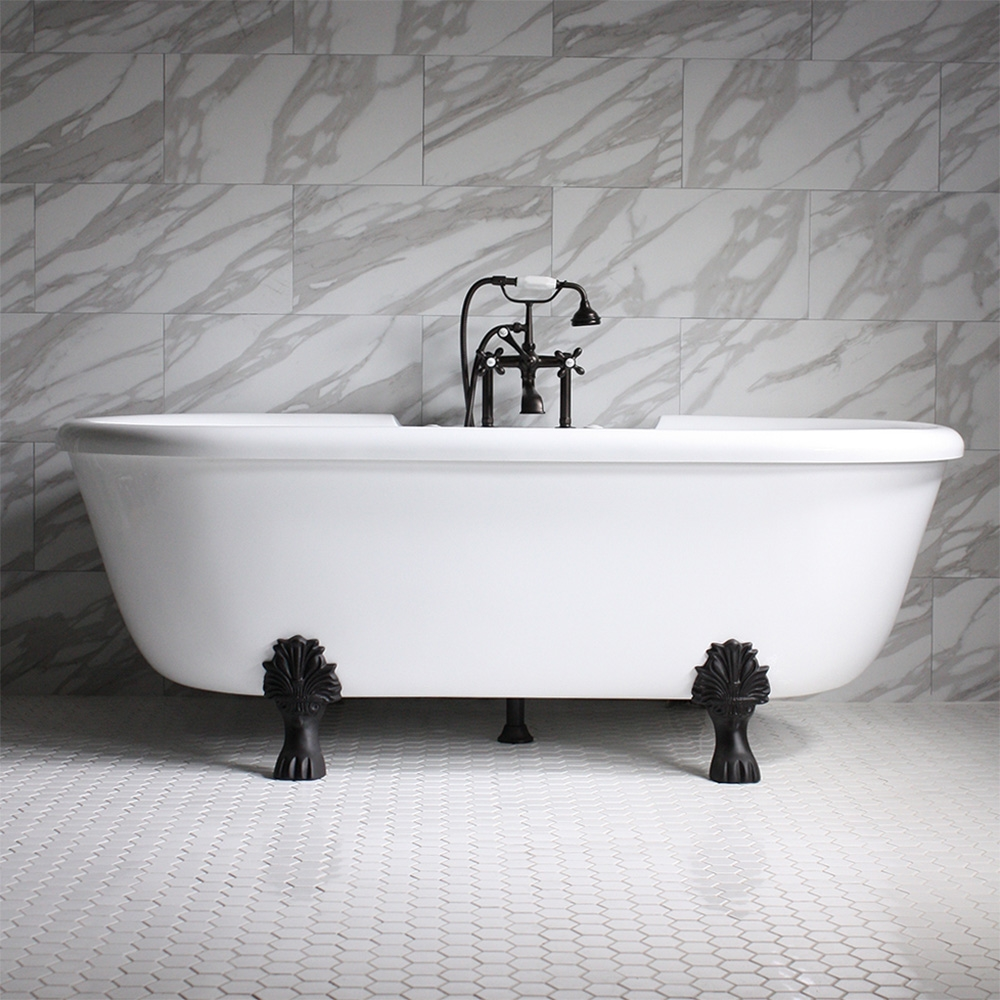 75 Heated Air Jetted Double Ended Clawfoot Tub