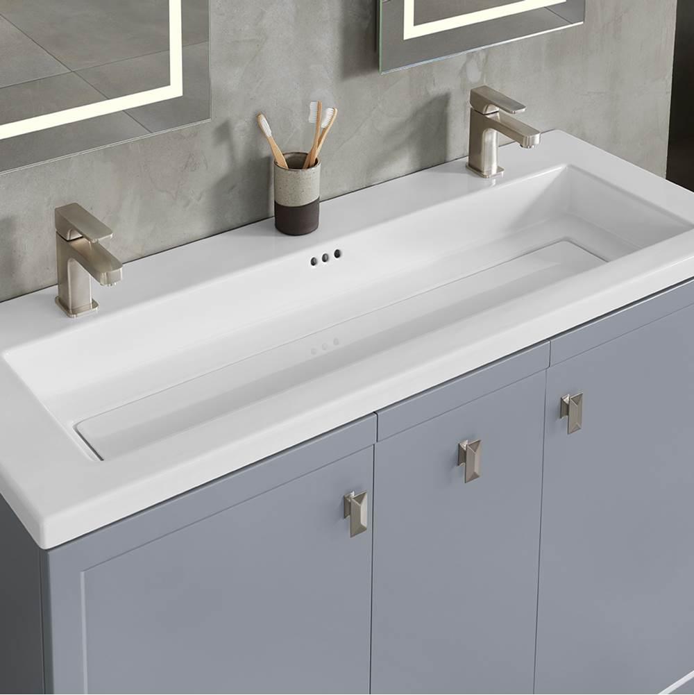 48 aravo solutions sinktop in white 22 depth double single fa
