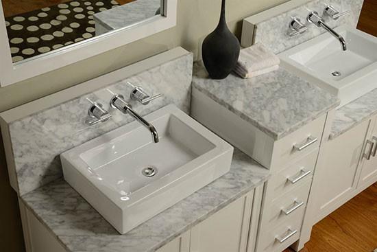 Artesia Double 84 Inch Modern Bathroom Vanity Pearl White