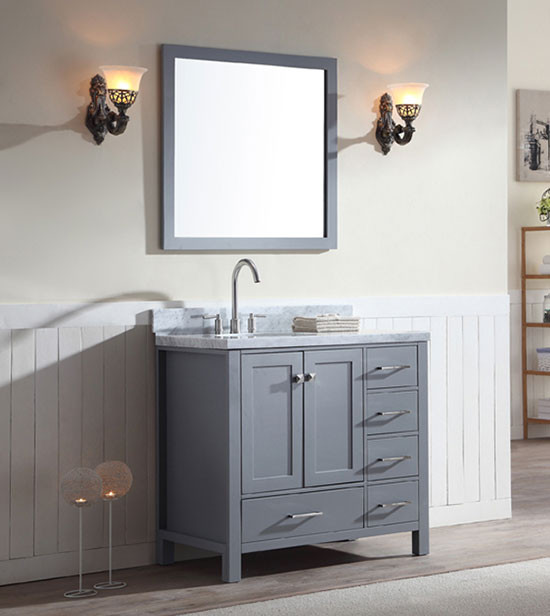 Ariel Cambridge Single 37 Inch Modern Bathroom Vanity