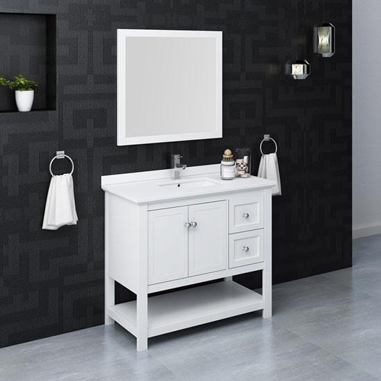 42 inch modern bathroom vanity set