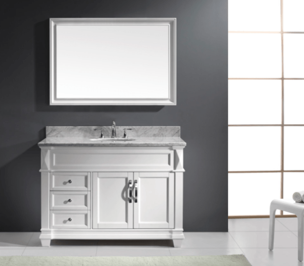 virtu usa victoria (single) 48-inch transitional bathroom vanity