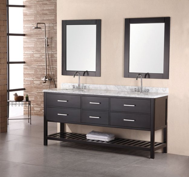 double bathroom vanities 72 to 90-inches
