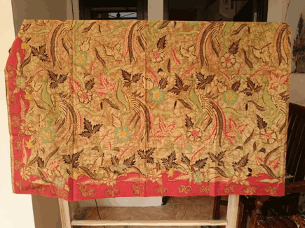 Traditional batik fabric from solo, Indonesia