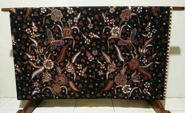 Indonesia Batik Tulis Lampung with dark color