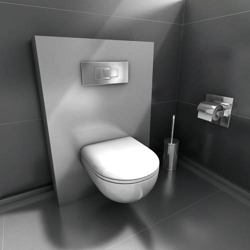 habillage de toilettes suspendues