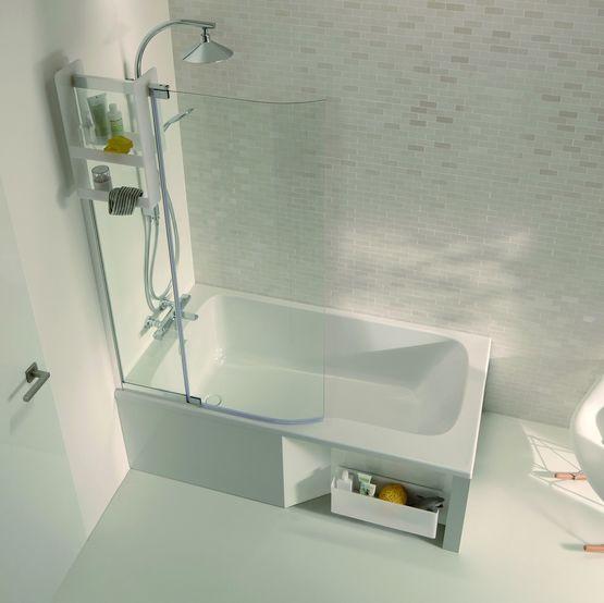 baignoire avec espace douche de 85 ou 90 cm malice