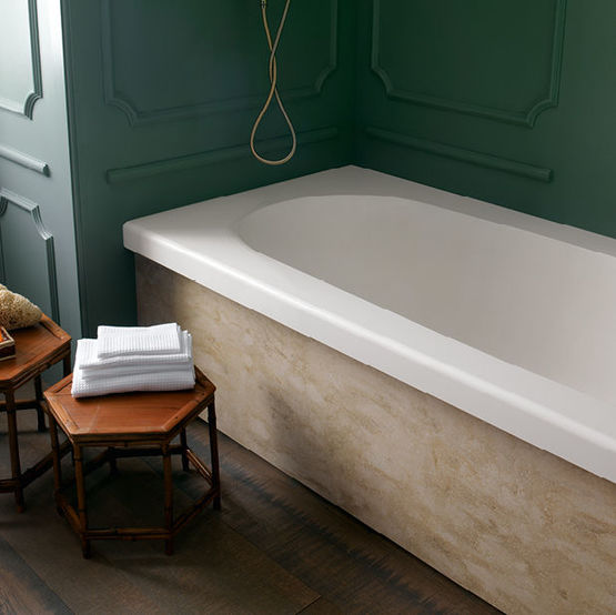 baignoire ovale avec plage en corian corian delight oval bathtub