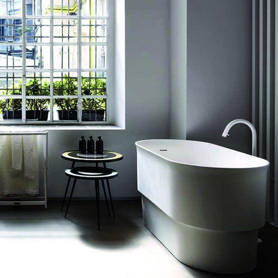 baignoire profonde en ilot pour petite salles de bains immersion