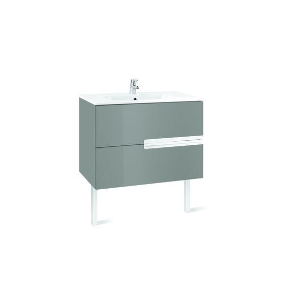 meuble suspendu ou sur pieds a deux ou trois tiroirs et vasque victoria n