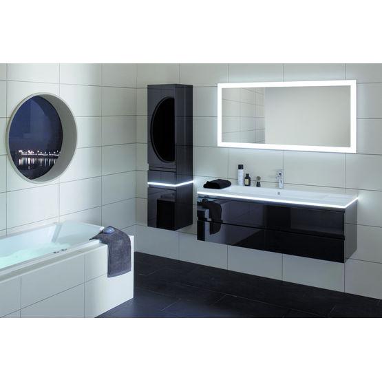 meuble suspendu sous vasque jusqu a 140 cm de largeur halo