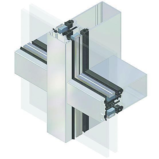 mur rideau drainant pour facades vitrees ou grandes verrieres aa100 verriere et facade design homogene
