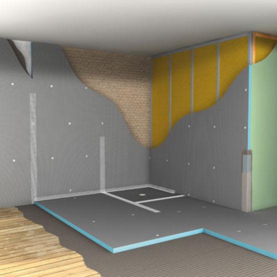 panneau en polystyrene extrude pour l amenagement de salle de bains panneau de construction