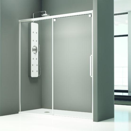 paroi de baignoire et douche a panneaux coulissants vetro