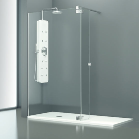 Paroi Pour Douche Avec Panneaux Fixes Et Volets Pivotants