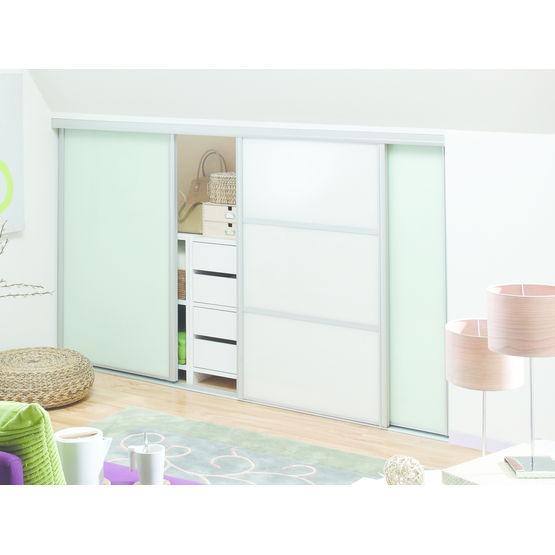 portes de placard coulissantes ou pivotantes en verre ou melamine al 400 pro