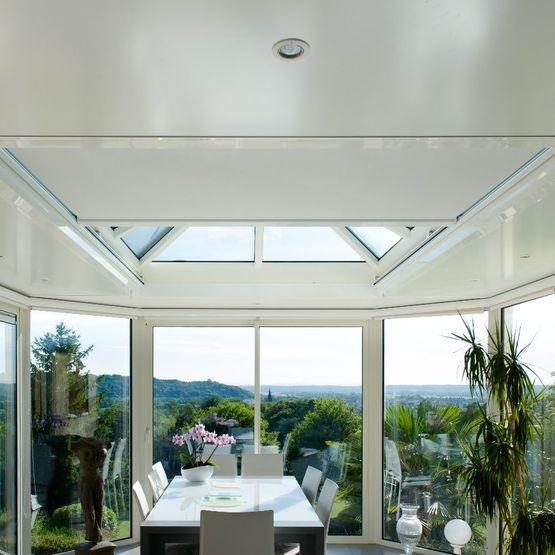 store anti chaleur pour verandas a toiture plate zenit