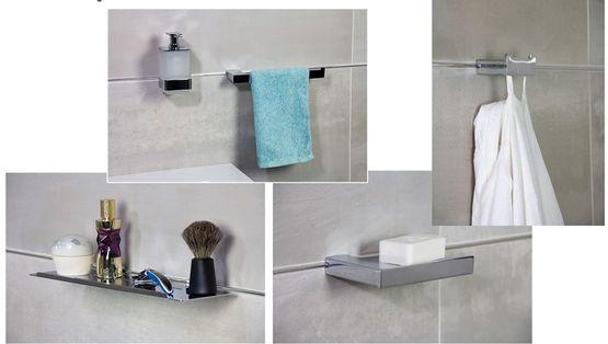 systeme de fixation d accessoires de la serie metropolitan sans percage pour la salle de bain fixmi