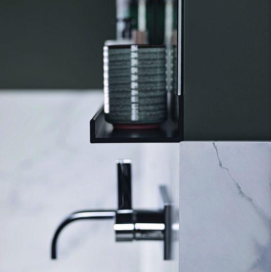 Tablettes De Salles De Bains En Aluminium Noir Mat Pour Rangement
