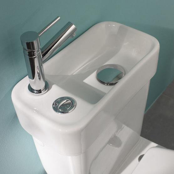 wc a poser en porcelaine avec lave mains design integre alliance