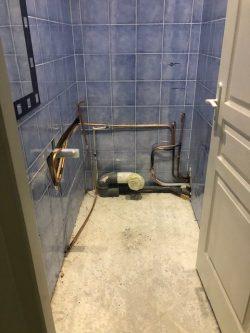avant/apres renovation toilettes WC, entreprise 94