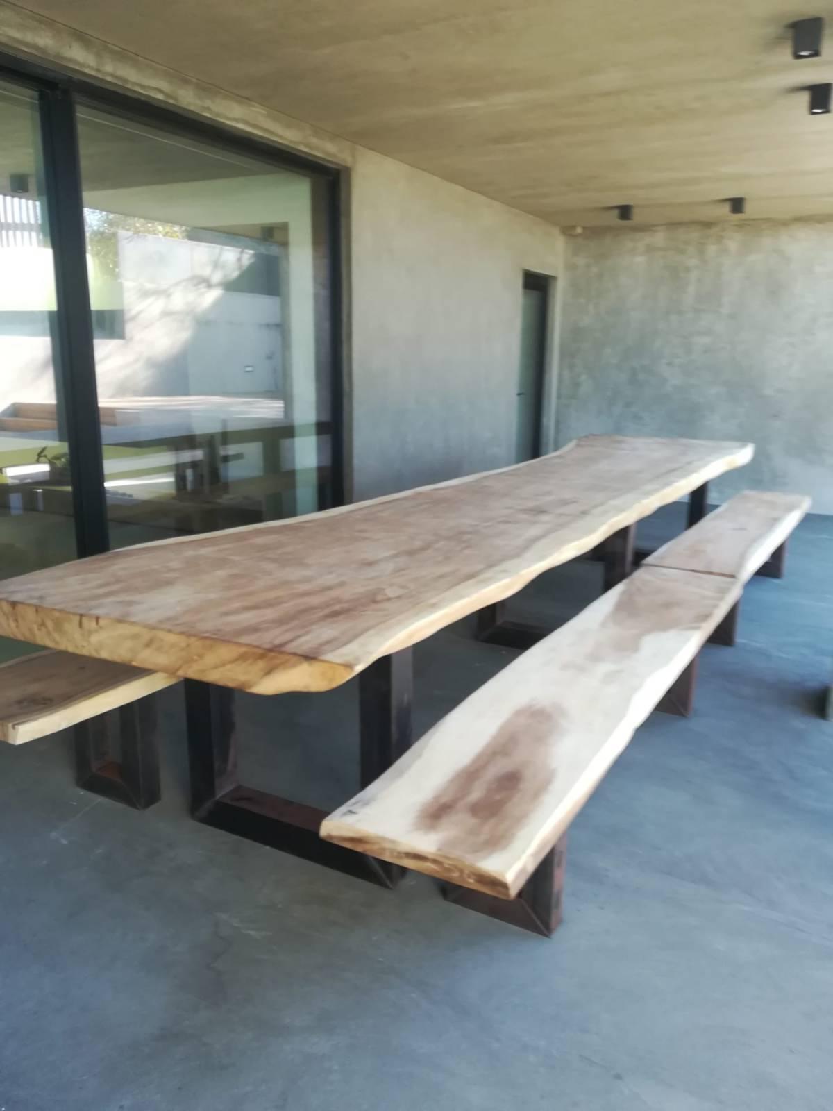 table bois metal sur mesure architecte design 94