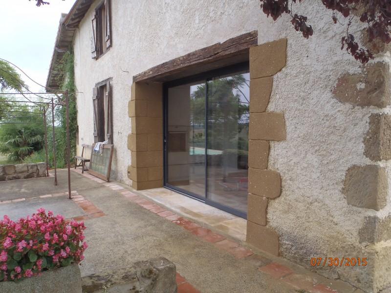 creation d 39 une ouverture dans un mur porteur pour la mise en place d 39 une baie coulissante les. Black Bedroom Furniture Sets. Home Design Ideas