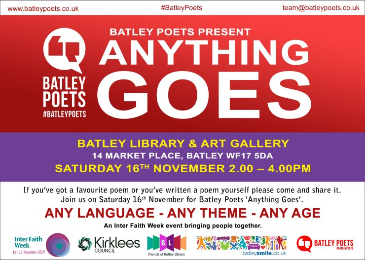 Anything Goes Batley Library Poster