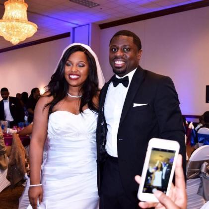 Elijah and wife Lauren.
