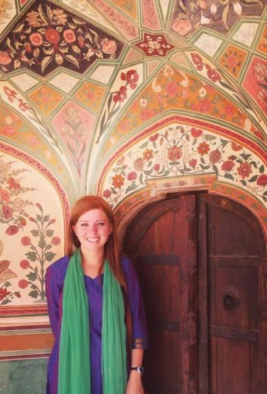 Ter Haar visiting Amer Fort in Jaipur, India.