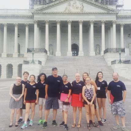 Ter Haar lobbying for alopecia funding on Capitol Hill.