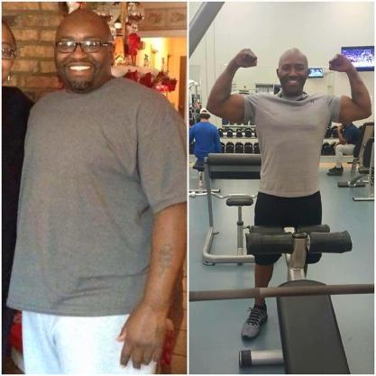 Pedro before (left) and after (right) his dramatic weight loss.
