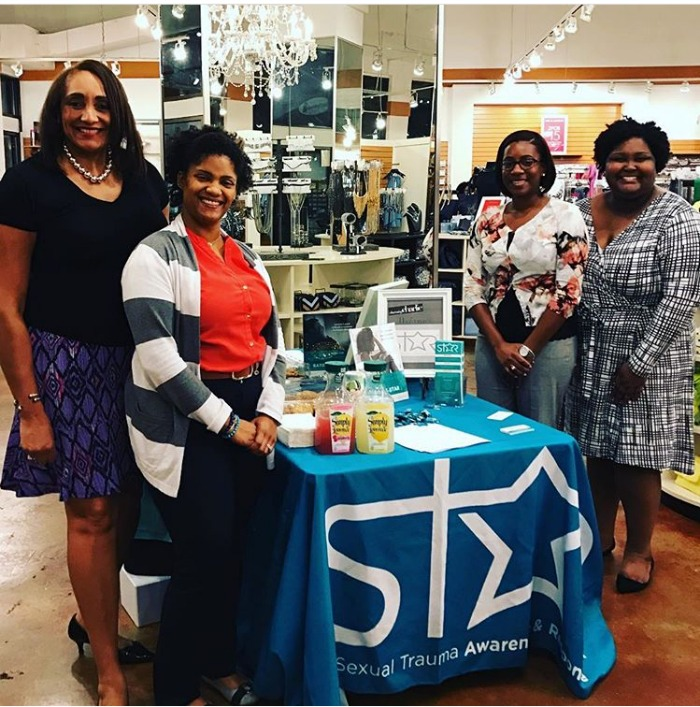 Alicia Murphy, Florence Fontenot, Laneceya Russ and Kirsten Raby at a Charming Charlie's fundraiser for STaR.
