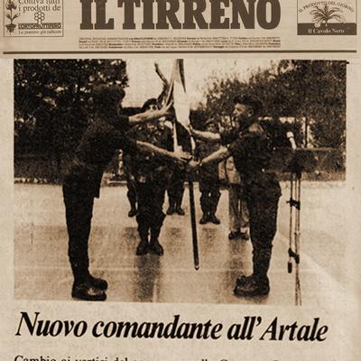 14 settembre 1987 Nuovo Comandante all' Artale