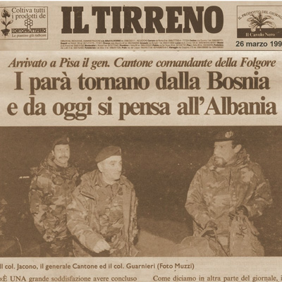 26 marzo 1997 I parà tornano dalla Bosnia e da oggi si pensa all' Albania